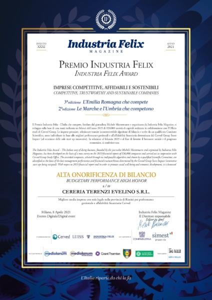 Let's celebrate the Industria Felix Award.